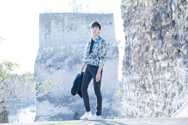 2014 10:11 Jung Il-woo in Bali for BNT International Part 3: Cliffy Goodness Cr.BNT International 11