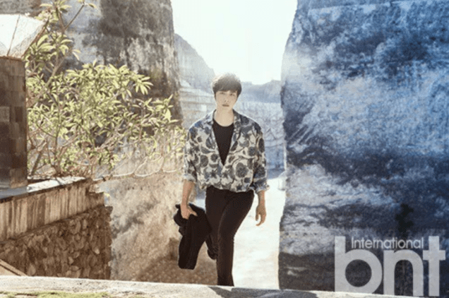 2014 11 Jung Il-woo in Bali Photo Shoot for BNT International. More with Logo 8.png