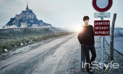 2015 3 Jung Il-woo at Mont Saint Michel for Style magazine Photo Shoot 1
