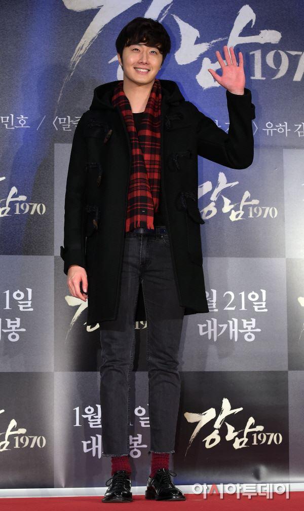 2015 1 20 Jung Il-woo attends VIP Premiere of Gangnam 1970. 2