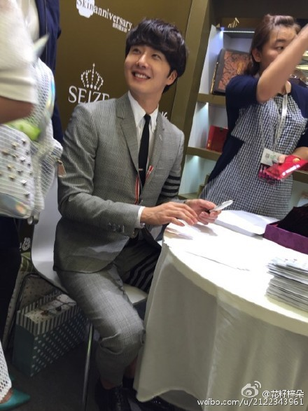 2015 5 19 Jung Il Woo attends the '2015 China Shanghai Cosmetics and Beauty Expo' 17