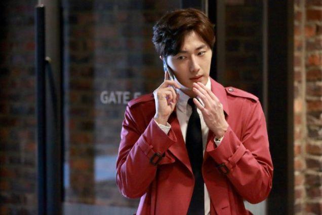 2015 Jung Il-woo in High End Crush Magenta Overcoat Cr. SOHU TV 1