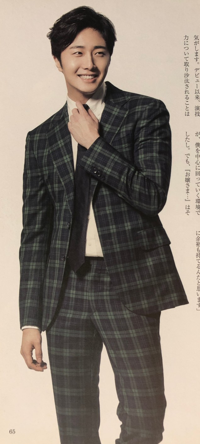 2015 Jung Il- woo in Plaid Photo Shoot Cr. Jung Il-woo 10th Anniversary Book.MP44