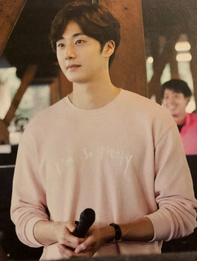 2015 09 13 Jung Il-woo in barbecue birthday celebration in Japan. Cr. 10th Anniversary Book3