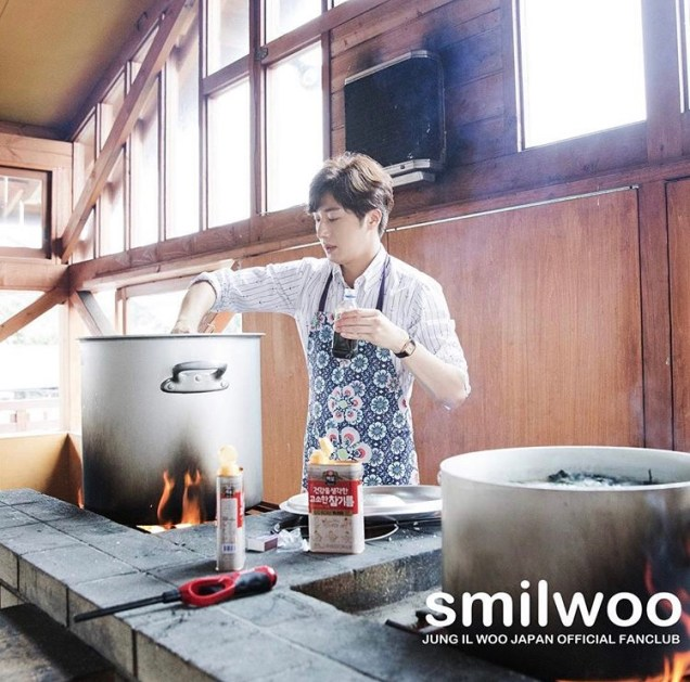 2018 09 13 Jung Il-woo in barbecue birthday celebration in Japan. Smilwoo 5