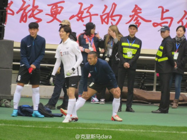 2016 1 10 jung il-woo playing soccer in the 2016 asian smile cup. 41