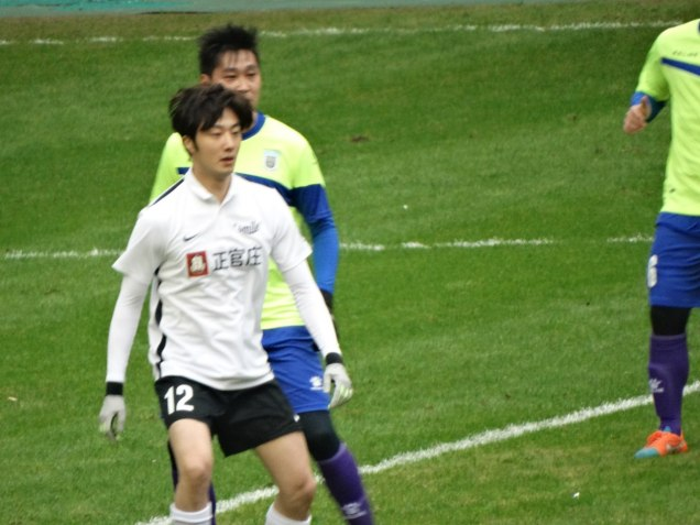 2016 1 10 jung il-woo playing soccer in the 2016 asian smile cup. 6