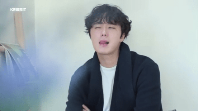2019 2 18 Jung Il-woo in Kribbit Behind the Scenes Video 2, Screen Captures by Fan 13. Cr.Kribbit 1