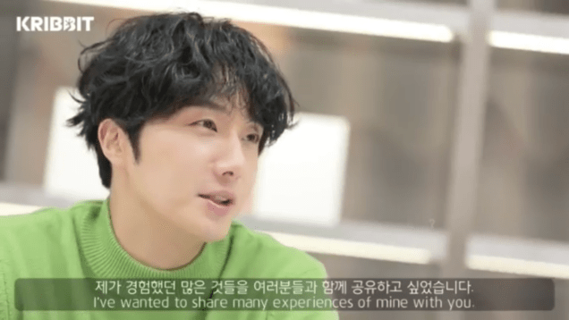 2019 2 18 Jung Il-woo in Kribbit Behind the Scenes Main Video, Screen Captures by Fan 13. Cr.Kribbit 10