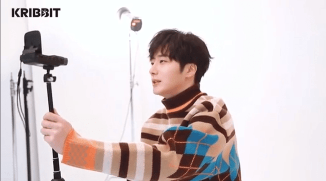 2019 3 Jung Il-woo in oversized sweater cuteness and overcaot for Kribbit Magazine. FLower ones edited by Fan 13 12