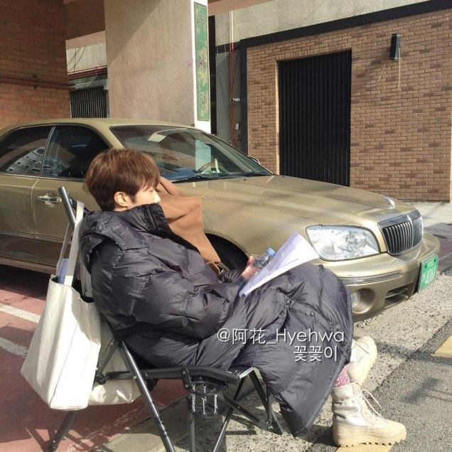 2016 Jung Il-woo in Cinderella and the Four Knights. Behind the Scenes. Fans. Cr. tvN 1