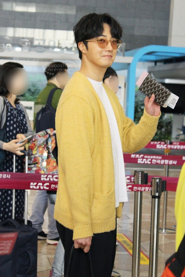 2019 5 21 Jung Il-woo departs to Japan for Fan Meetings. Cr. Ilwoostory Cafe. 2