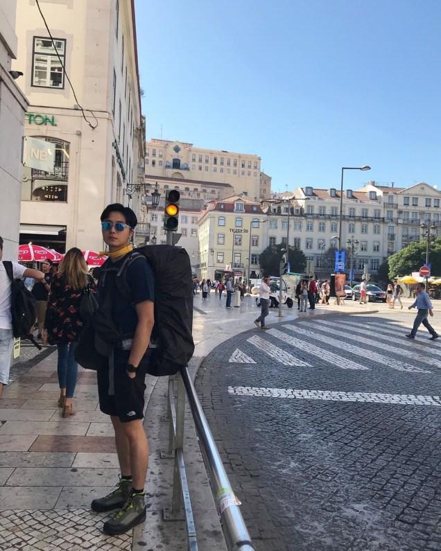 Jung Il-woo walking El Camino de Santiago. May 2019 1
