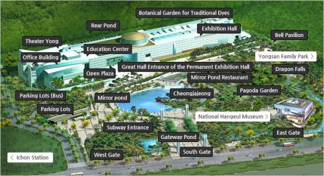 National Museum of Korea.  Museum Ground Map..jpg