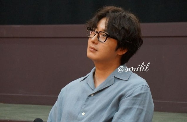 2019 7 21 Jung Il-woo at the Q & A session of the screening of the movie Black Summer. Cr. @ smilil 16