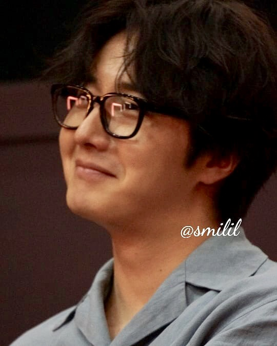 2019 7 21 Jung Il-woo at the Q & A session of the screening of the movie Black Summer. Cr. @ smilil 8