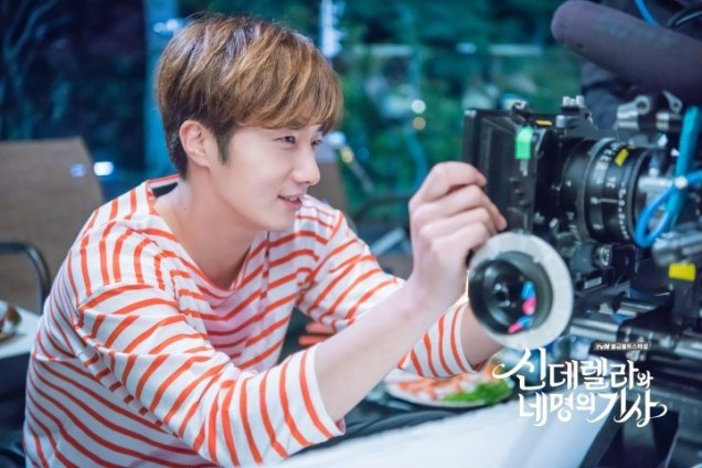 Jung Il-woo in Cinderella and the Four Knights. Episode 8. Cr. tvN Website Photos. Filming drunk part. PNG1