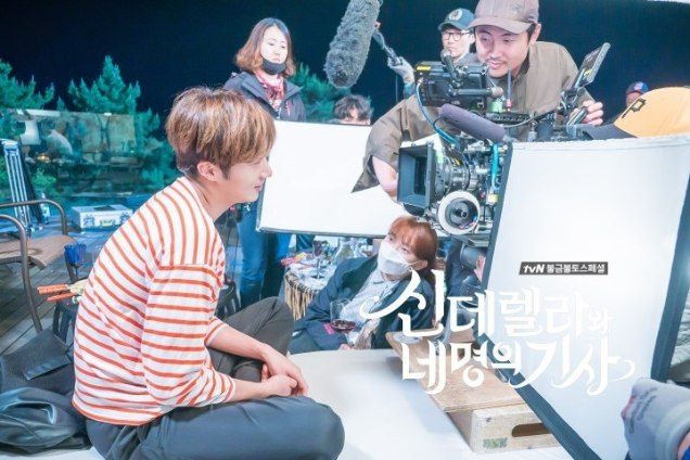 Jung Il-woo in Cinderella and the Four Knights. Episode 8. Cr. tvN Website Photos. Filming drunk part. PNG3