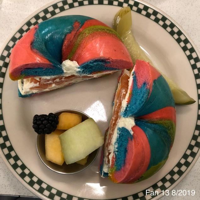 2019 8 16 Baz Rainbow Bagel in NYC. 2