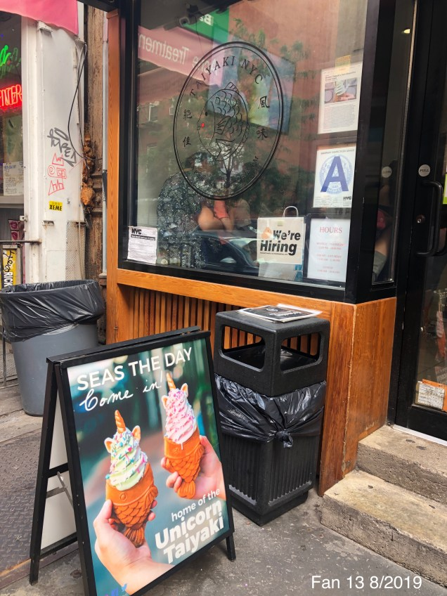 2019 8 16 Fishy Ice Cream at Taiyaki NYC. 1