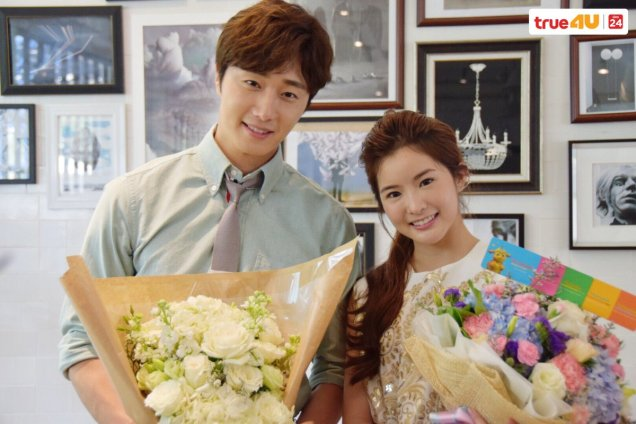 Jung Il-woo with Mild welcomed on their first day of shooting Love and Lies. Cr. LeayDoDee Studio & True 4U TV. 5