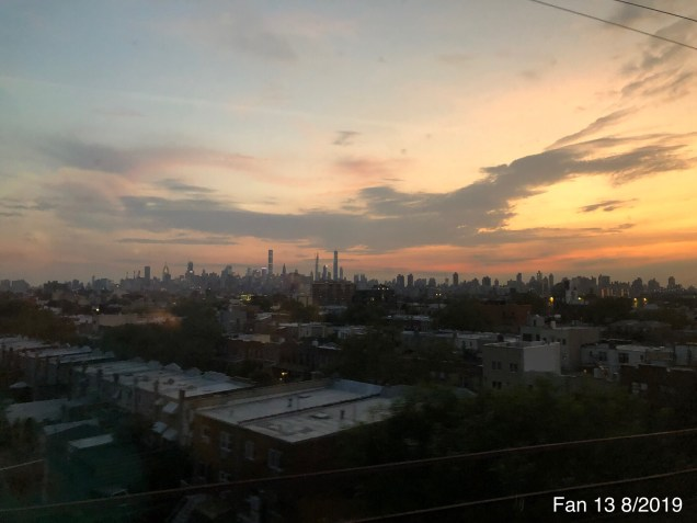 New York Skyline from the Amtrak headed to Boston. August 2019 .JPG