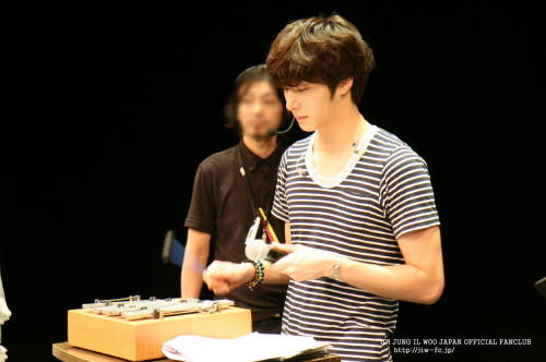 2012 9 9 Jung II-woo practicing for Smilwoo's Inauguration: Fanmeet Birthday 00001
