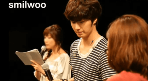 2012 9 9 Jung Il-woo Fan Meeting . Images from video by Snowy with Smilwoo photos. 0