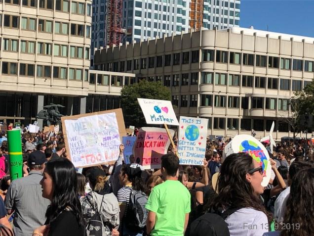 2019 9 20 Climate Change Strike. Boston, Mass. USA taken by Fan 13. 17