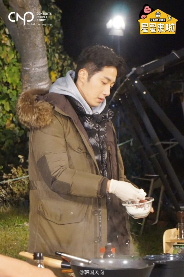 2016 11 Jung Il-woo in Star Shop. Cooking Outside. 16