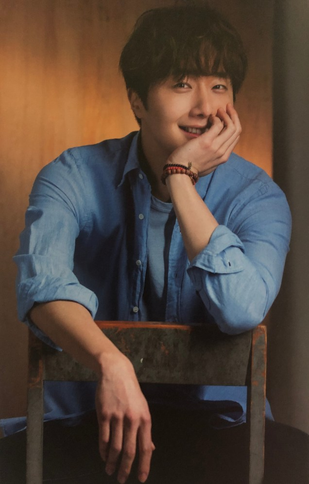 2016 Jung Il woo in his 10th Anniversary Thank You! Book. Blue Shirt.8