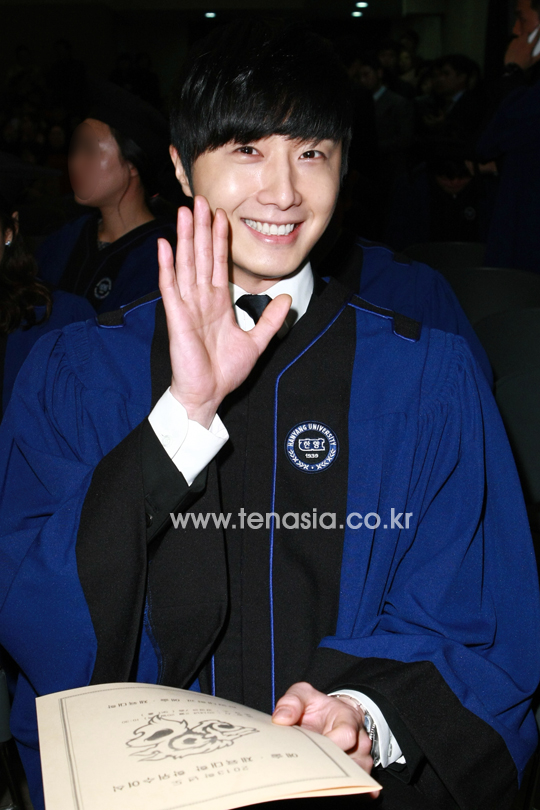 Jung II-woo's Graduation Hanyang University 2014 2 20 2