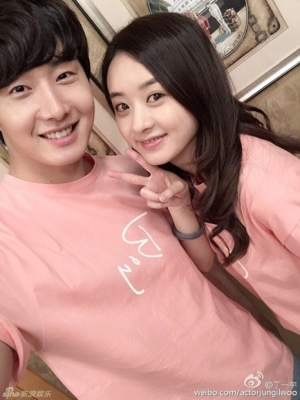 2015 5  Jung Il Woo in BTS of The Rise of a Tomboy. Social Media Posts with Zanilia Zhao. 1.jpg