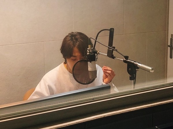 2019 11 26 Jung Il woo records his voice for an exhibit about Gaya for the National Museum of Korea. 6