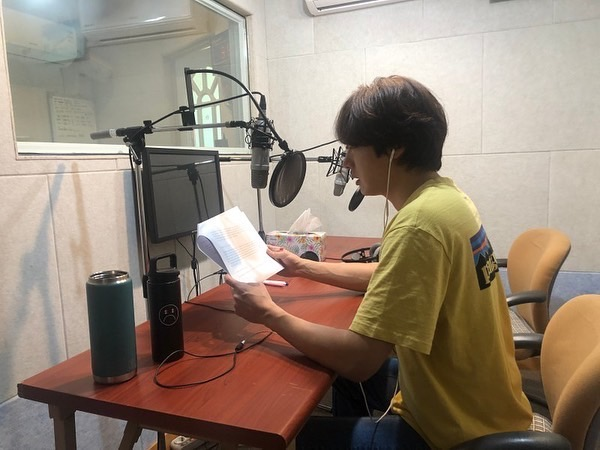 2019 11 26 Jung Il woo records his voice for an exhibit about Gaya for the National Museum of Korea. 8