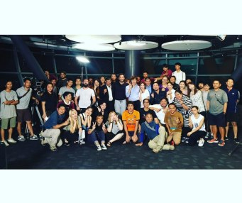 Jung Il woo in Behind the Scenes of Love and Lies. With cast and crew. 11