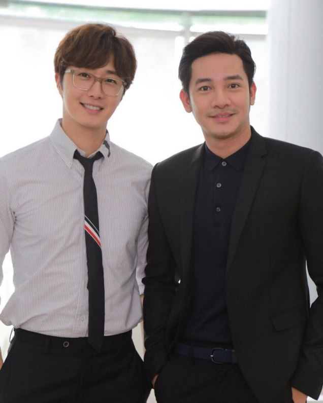 Jung Il woo in Behind the Scenes of Love and Lies. With male actors. 3