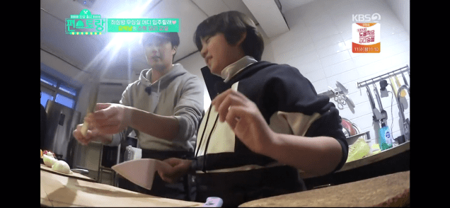 Jung Il woo and Kim Kang-hoon in Convenience Store Restaurant Episode 19. 94