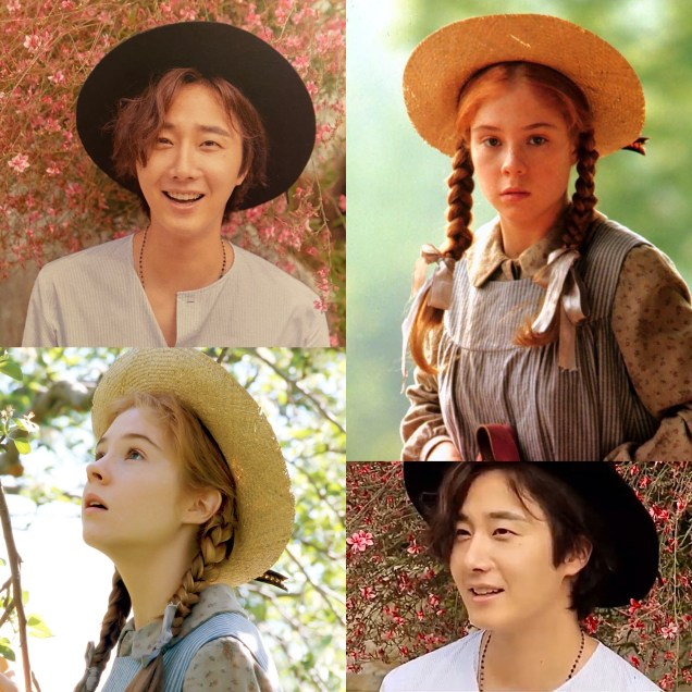 Jung Il woo and Meghan Follows as Anne of Green Gables