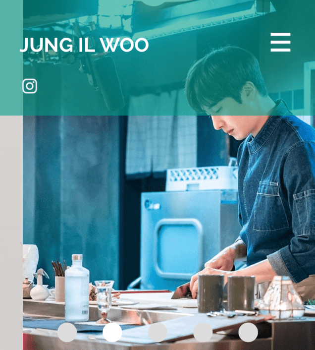 2020 7 14 Jung Il Woo's Website Look is refreshed. 1