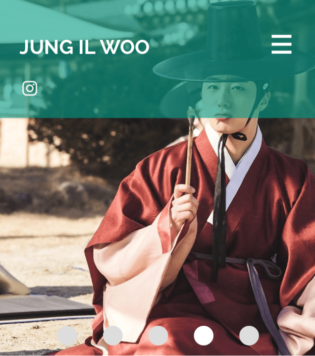 2020 7 14 Jung Il Woo's Website Look is refreshed. 3