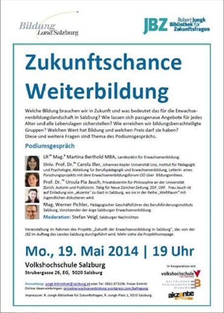 19. Mai 2014 19 Uhr in der VHS Salzburg