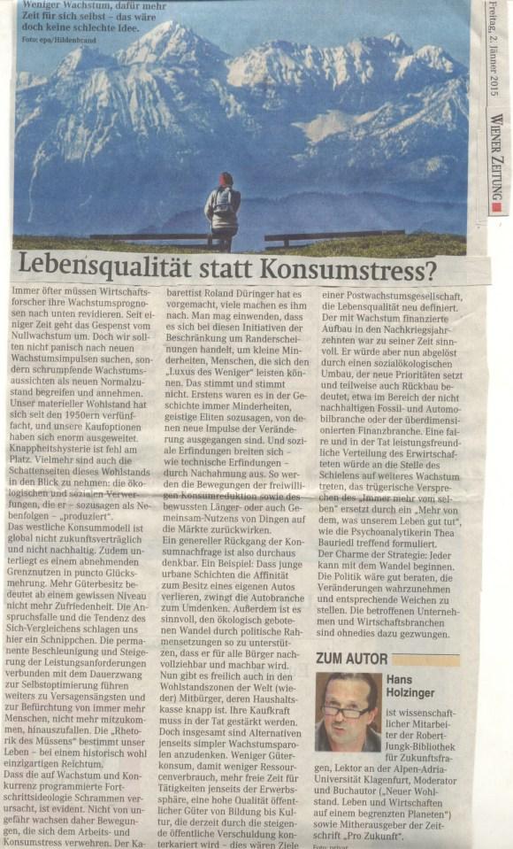 02012015WrZeitung_HolzingerLebensqualität stattKonsumstress
