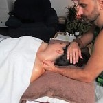 Jungle Healing Massage Therapies Crawley. Marek Gabor carrying out a full body Thai Oil Fusion Massage.