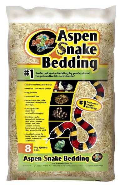 oo Med Aspen Snake Bedding 8qt