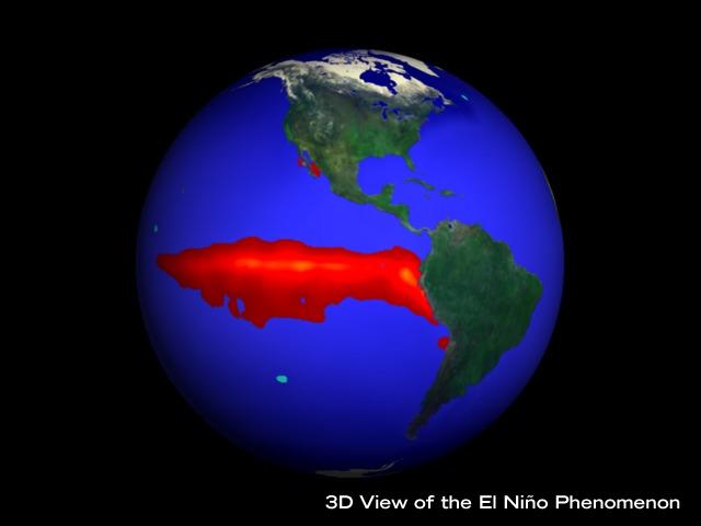 El Nino satellite image
