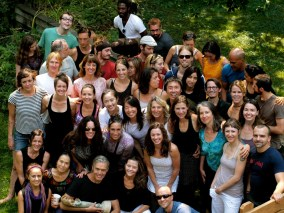 Our group photo 2012 at the potluck completing Richard & Mary's training.