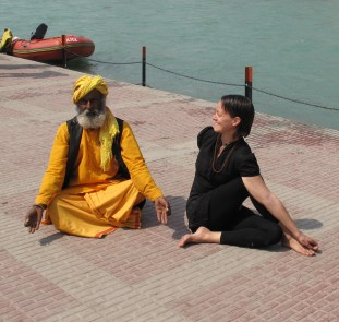 This baba wanted to join the shoot... Photo by Nikhil