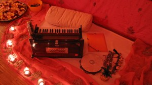 Kirtan set-up complete!