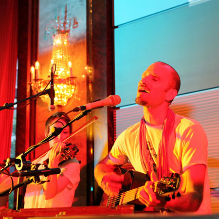 Petros & Friends kirtan at the German Yoga Conference in Cologne 2011.